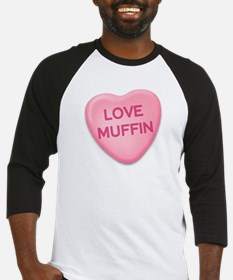 love muffin Candy Heart Baseball Jersey