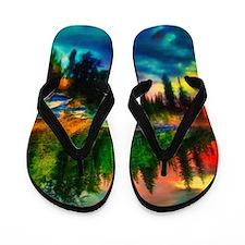 lake vista art Flip Flops