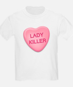 lady killer Candy Heart Kids T-Shirt