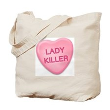 lady killer Candy Heart Tote Bag
