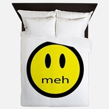 meh - saying of indifference Queen Duvet