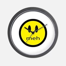 meh - saying of indifference Wall Clock