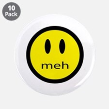 "meh - saying of indifference 3.5"" Button (10 pack)"