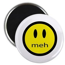 """meh - saying of indifference 2.25"""" Magnet (100 pac"""
