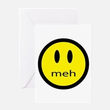 meh - saying of indifference Greeting Card