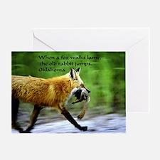 Limping Fox Greeting Card