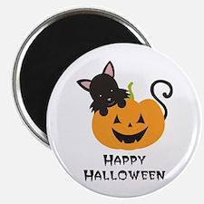 Happy Halloween Cat Magnets