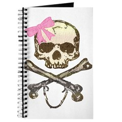 Skull and Crossbones with Pink Bow Journal