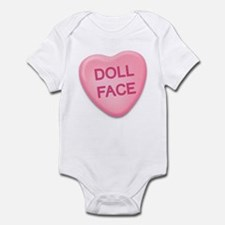doll face Candy Heart Infant Bodysuit