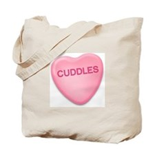 cuddles Candy Heart Tote Bag