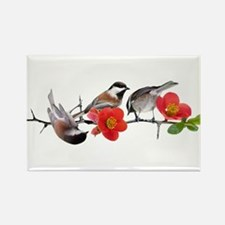 Quince Birds Rectangle Magnet