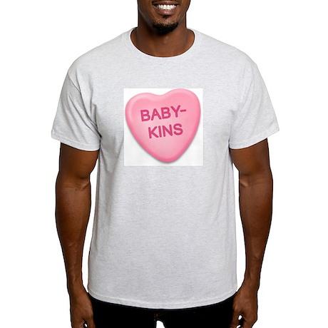 babykins Candy Heart Ash Grey T-Shirt