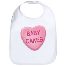 baby cakes Candy Heart Bib