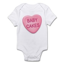 baby cakes Candy Heart Infant Bodysuit