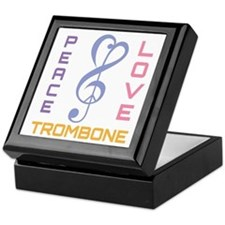 Peace Love Trombone Music Keepsake Box
