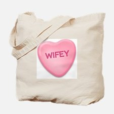 Wifey Candy Heart Tote Bag