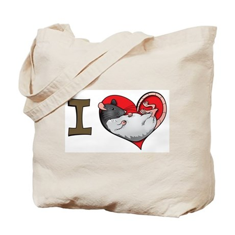 I heart rats (hooded) Tote Bag