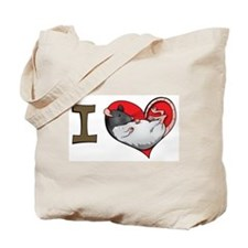 I heart rats (hooded) Tote Bag