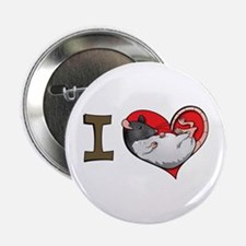 I heart rats (hooded) Button
