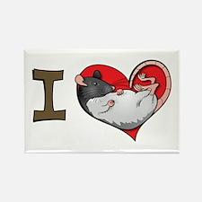 I heart rats (hooded) Rectangle Magnet