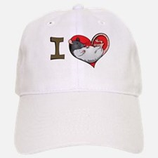 I heart rats (hooded) Baseball Baseball Cap