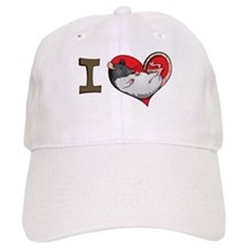 I heart rats (hooded) Baseball Cap