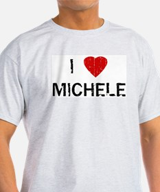 I Heart MICHELE (Vintage) Ash Grey T-Shirt