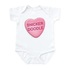 Snicker Doodle Candy Heart Infant Bodysuit