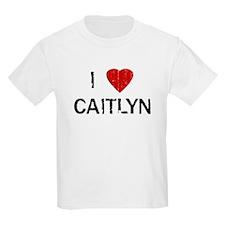 I Heart CAITLYN (Vintage) Kids T-Shirt