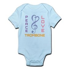 Peace Love Trombone Music Infant Bodysuit