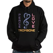 Peace Love Trombone Music Hoodie