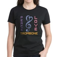 Peace Love Trombone Music Tee