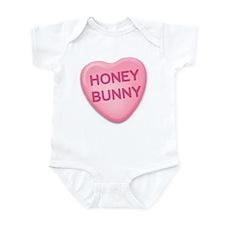Honey Bunny Candy Heart Infant Bodysuit