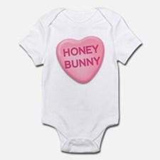 Honey Bunny Candy Heart Infant Bodysuit