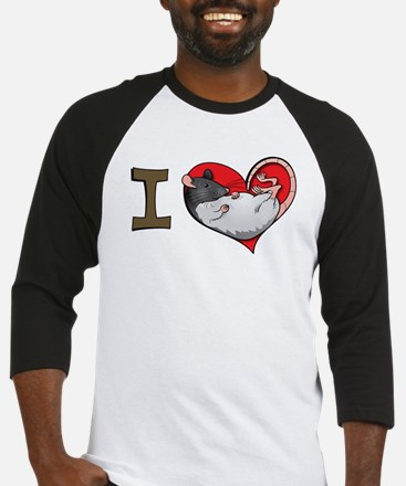 I heart rats (hooded) Baseball Jersey