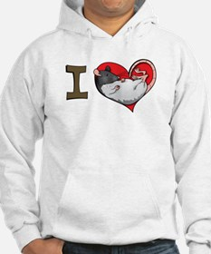 I heart rats (hooded) Hoodie