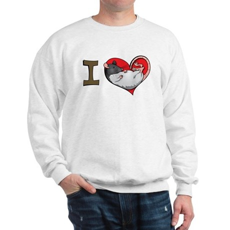 I heart rats (hooded) Sweatshirt