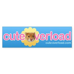 [Blue + Hamster] Bumper Sticker