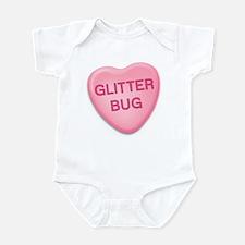 Glitter Bug Candy Heart Infant Bodysuit