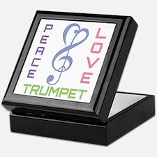 Peace Love Trumpet Music Keepsake Box