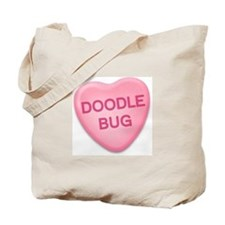 Doodle Bug Candy Heart Tote Bag