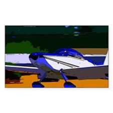 Sport Aviation Rectangle Stickers