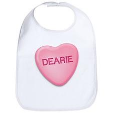 Dearie Candy Heart Bib