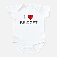 I Heart BRIDGET (Vintage) Infant Bodysuit