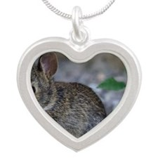 Bunny Baby Silver Heart Necklace