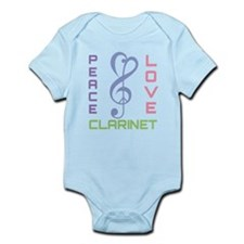 Peace Love Clarinet Music Infant Bodysuit