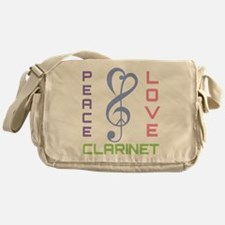Peace Love Clarinet Music Messenger Bag