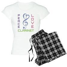 Peace Love Clarinet Music Pajamas
