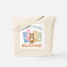 Retro Rather Play Euchre Tote Bag