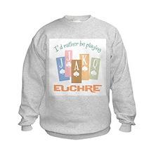 Retro Rather Play Euchre Sweatshirt